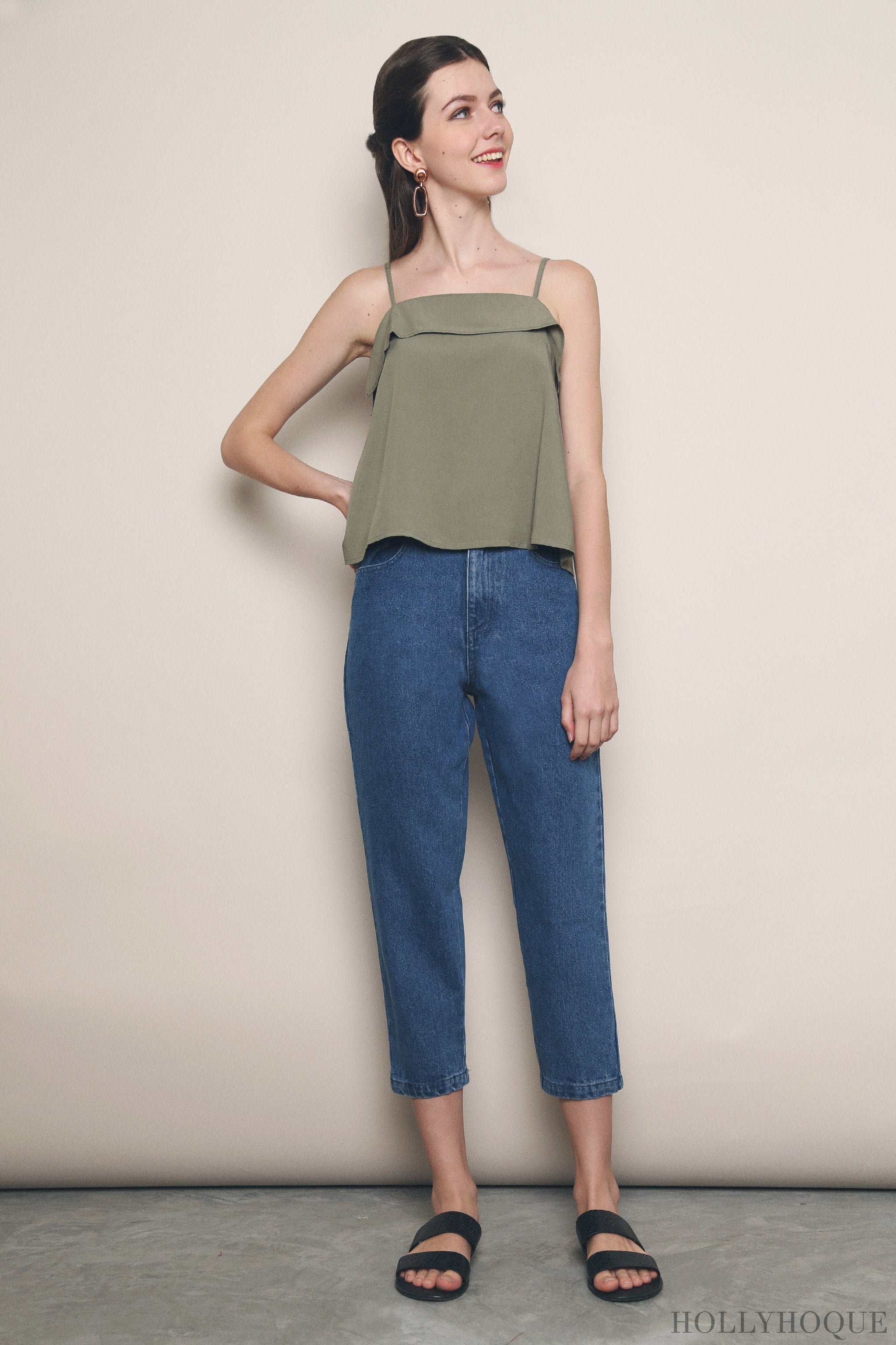 Tiffany Mom Jeans Dark Denim