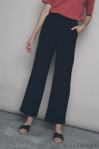 Tommy Straight Leg Pants Black