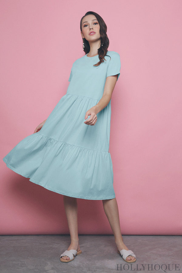 Val Layered Tee Dress Mint