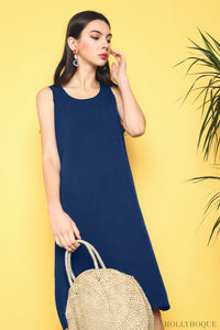 Willa Basic Knit Dress Navy