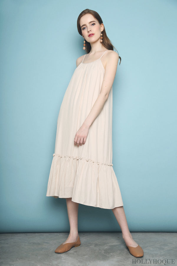 Xanga Ruffles Midi Dress Malt
