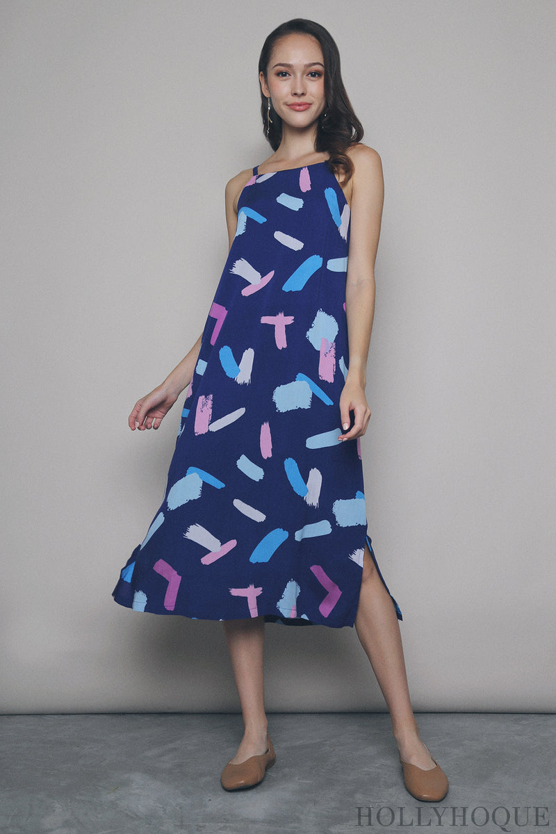 Yves Brushstroke Midi Dress