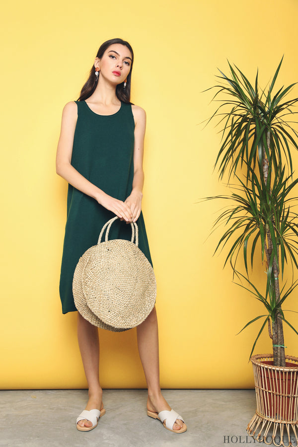 Willa Basic Knit Dress Emerald (Backorder)