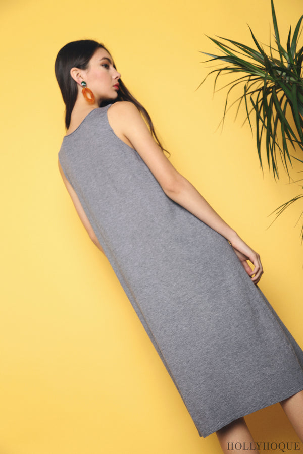 Willa Basic Knit Dress Grey (Restock)