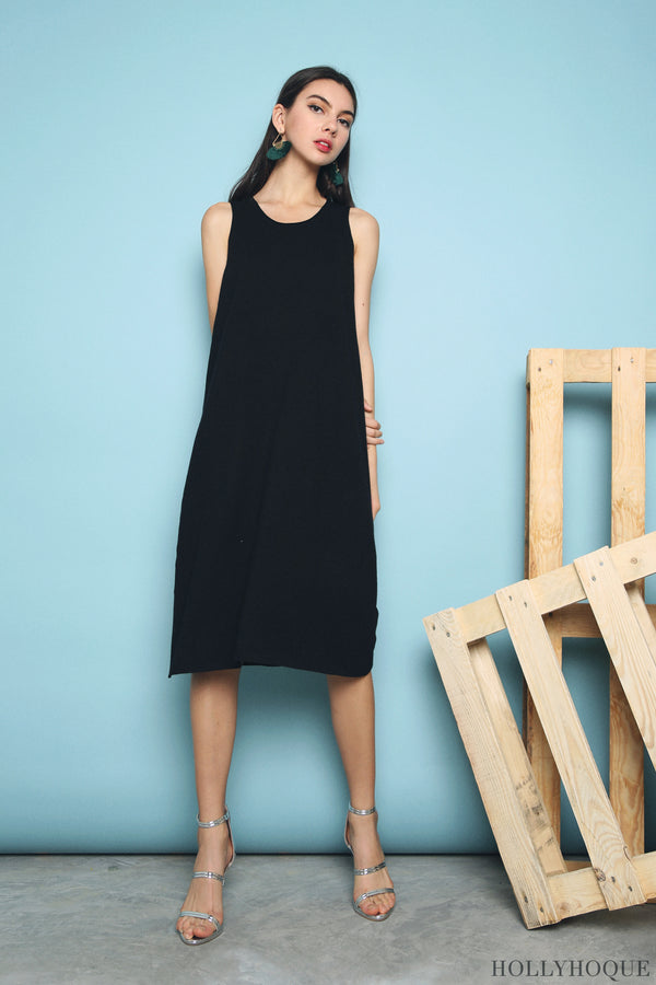 Willa Basic Knit Dress Black (Backorder)