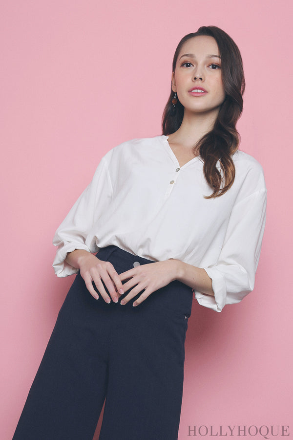 Chantilly Relaxed Shirt White