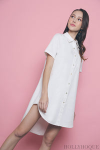 Ezzie Shirt Dress White