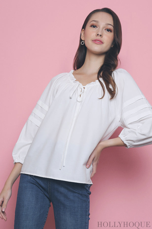 Krys Off Shoulder Blouse White