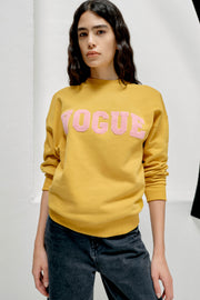 VOGUE Sweatshirt Amber mit Logo-Patch