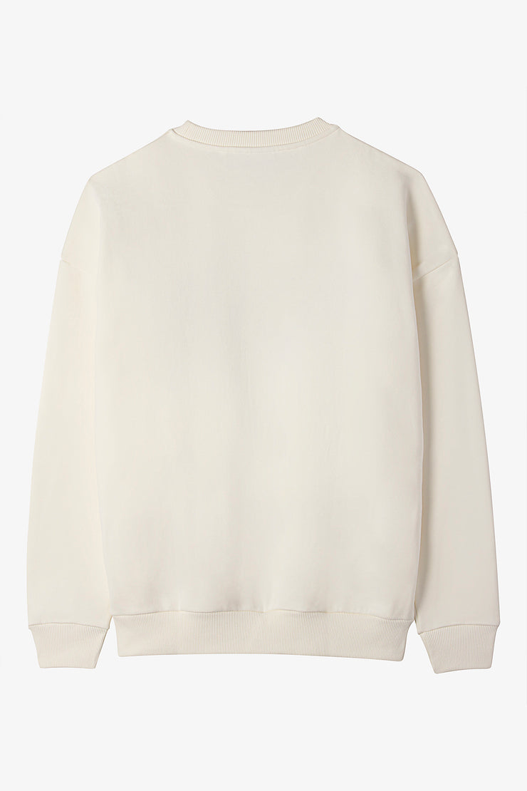 VOGUE Sweatshirt Creme mit Logo-Stickerei