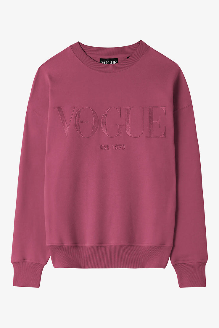 VOGUE Sweatshirt Bordeaux mit Logo-Stickerei