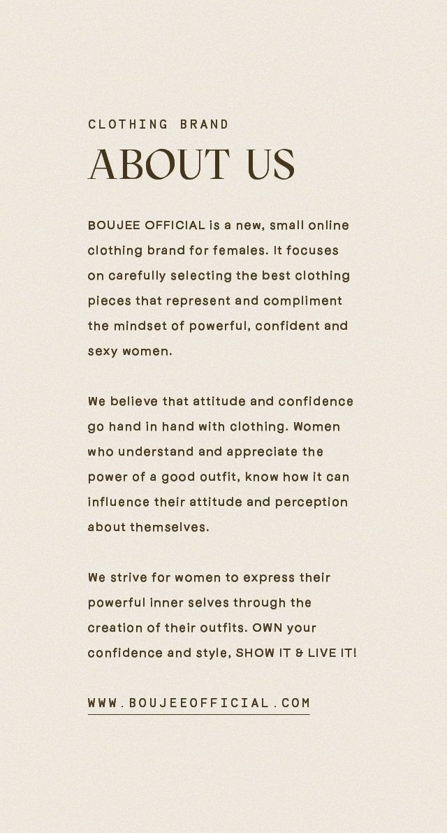 ABOUT US - BOUJEE OFFICIAL | Women's Clothing Store | Online Fashion | UK