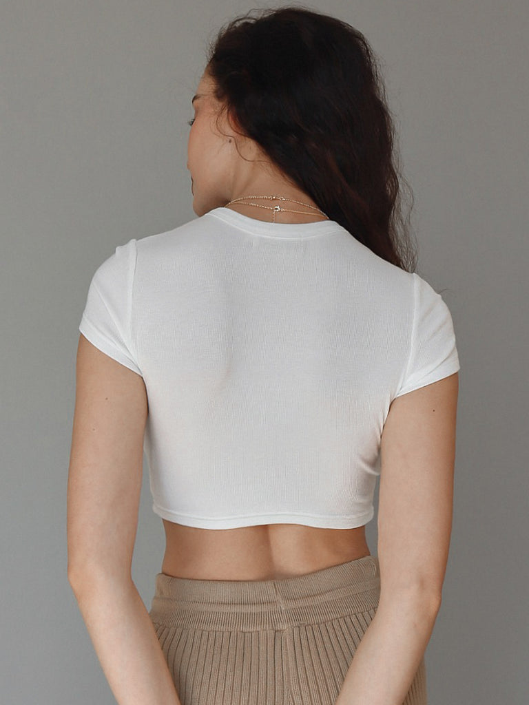 CROP TOP - WHITE - BOUJEE OFFICIAL