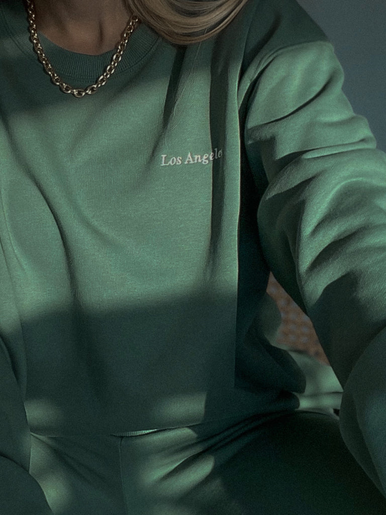 OVERSIZED CREWNECK SWEATSHIRT - HUNTER - BOUJEE OFFICIAL