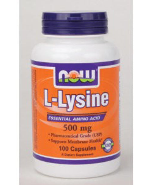 NOW Foods L-Lysine Capsules, 500 Mg, 100 Ct