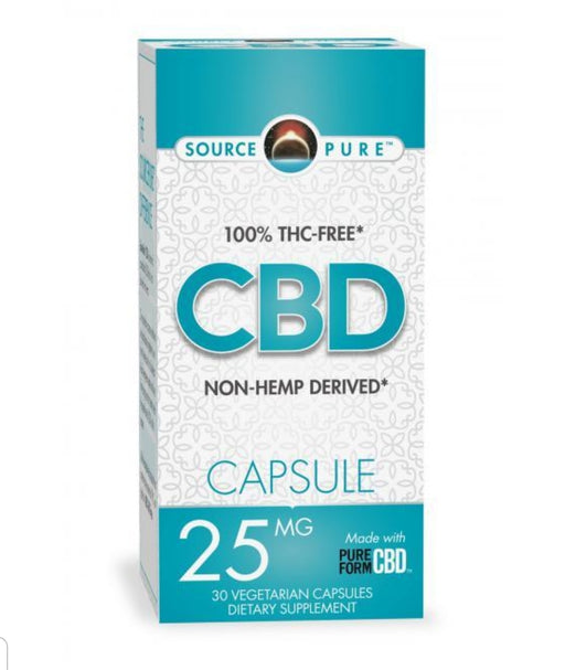 Source Pure CBD 25mg - 30 Capsules