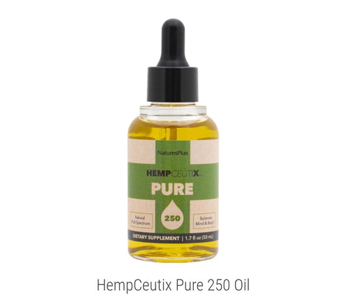 NaturesPlus HempCeutix Pure 250 Oil 1.7 fl oz 50ml