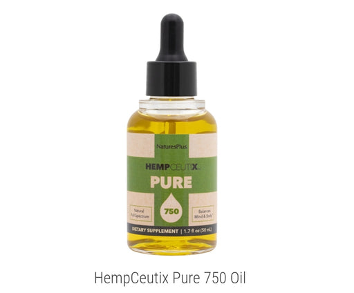 NaturesPlus HempCeutix Pure 750 Oil  1.7 fl oz. 50ml