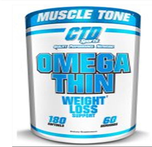 Ctd Labs Omegathin Natural Energy /weight Loss Blend 180 Softgels