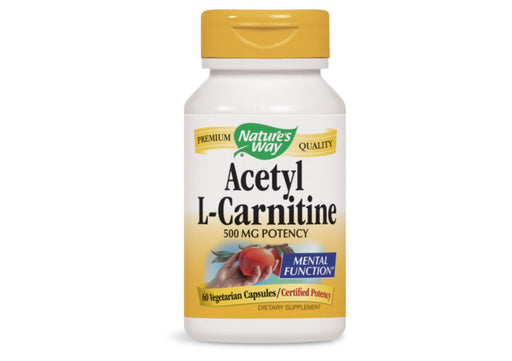 Nature's Way Acetyl L-Carnitine Vegetarian Capsules, 60 Ct