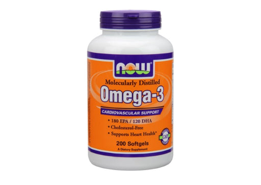 NOW Foods Omega-3 Softgels, 200 Ct 200 Count