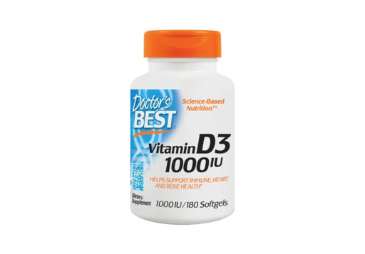 Doctor's Best Vitamin D3 1000IU Capsules, 180 Ct