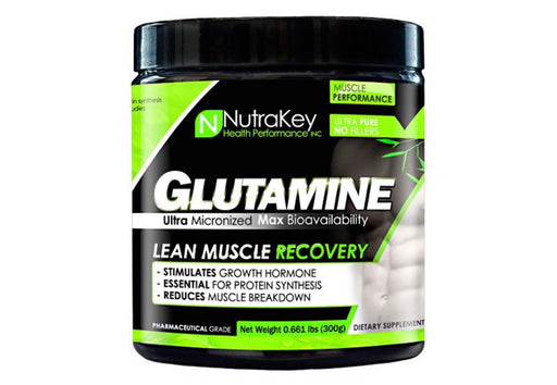 Nutrakey L-Glutamine Unflavored - 300 Grams