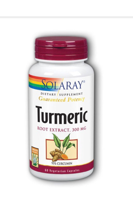 Solaray Turmeric Root Extract 300 mg - 60 Capsules