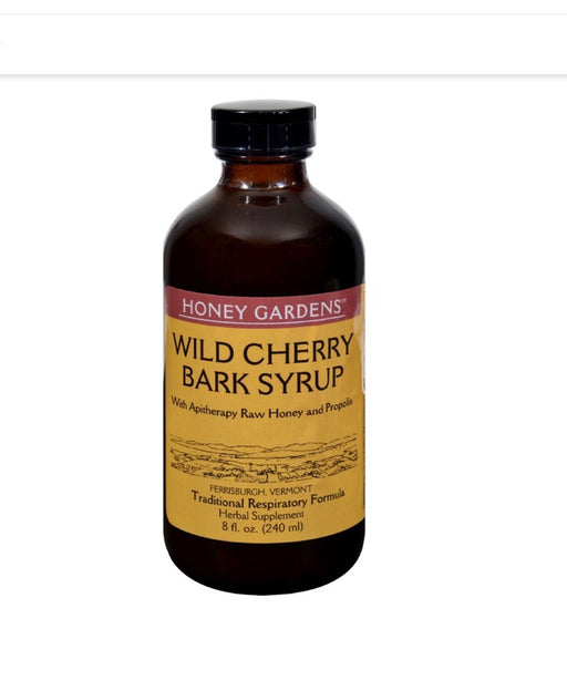 Honey Gardens Apiaries Honey Wild Cherry Bark Syrup 8 fl oz