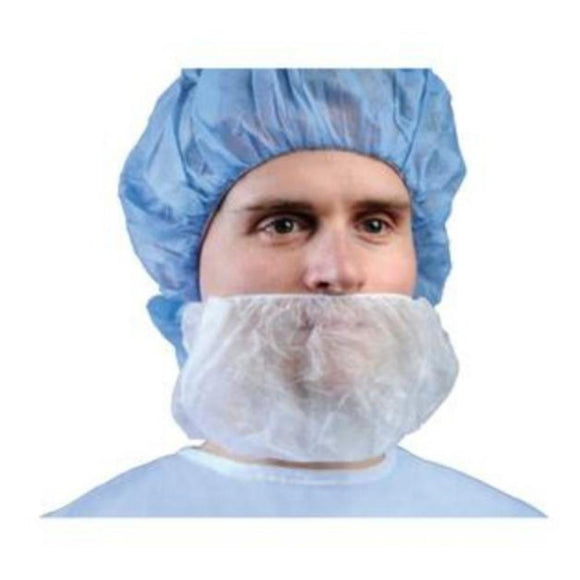 Cardinal Health Surgical Beard Cover, Full Coverage, White