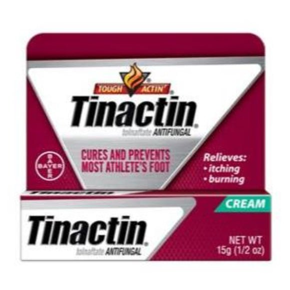 Tinactin Athletes Foot Cream, 0.5 oz.