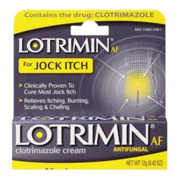Bayer Lotrimin AF Antifungal Cream for Jock Itch, 0.42oz (12g)