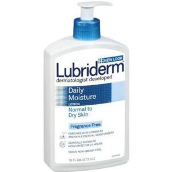 Lubriderm Fragrance-free Moisturizing Lotion 16 oz., Enriched with Vitamin B5 and Skin Essential Moisturizers