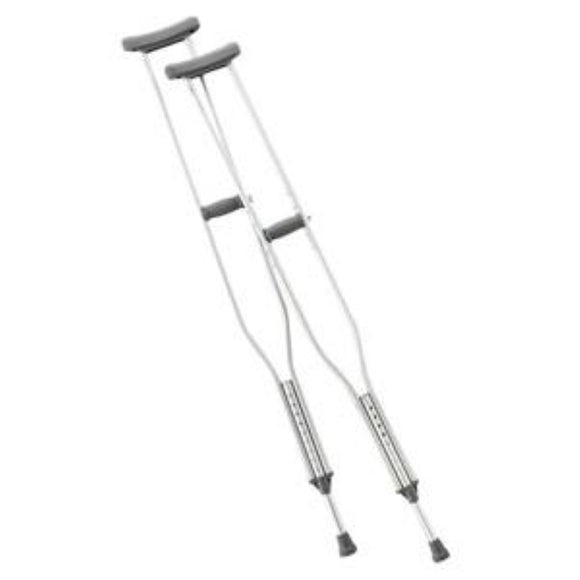 Adult Crutches, Tall, Push Button, Adjustable, 70