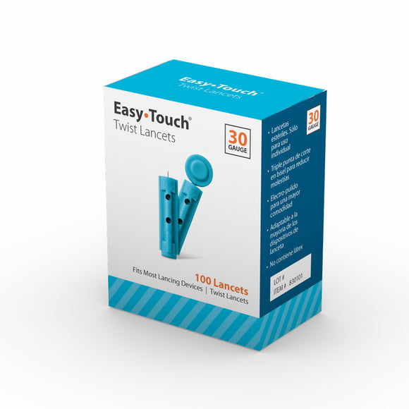 MHC EasyTouch 30G 100pc Twist Lancets