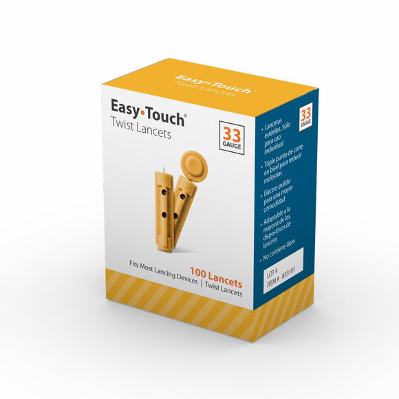 MHC EasyTouch 33G 100pc Twist Lancets