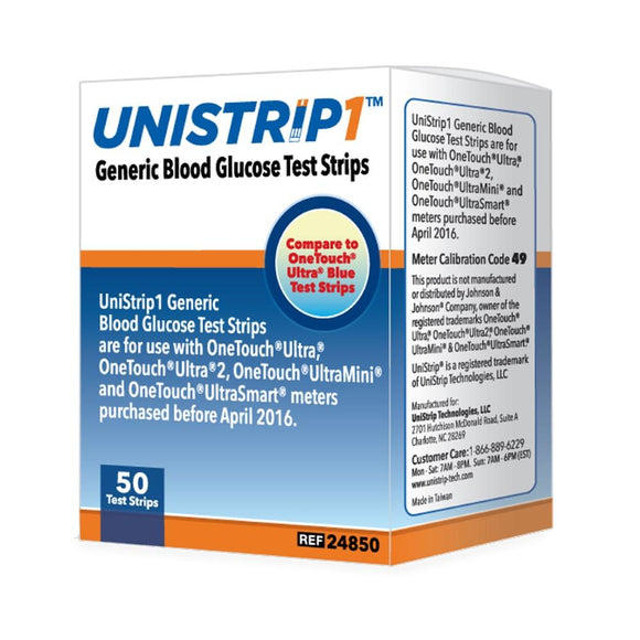 UniStrip Technologies Unistrip Blood Glucose Test Strips (1200 count)
