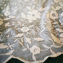 Load image into Gallery viewer, Embroidered Cotton and Silk Blend Voile, Floral Design