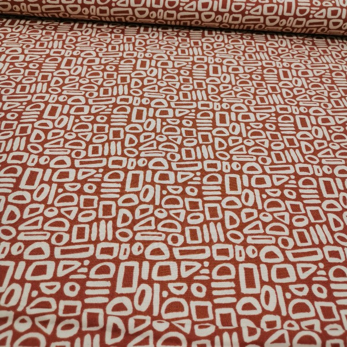 100% Cotton, Cotton and Steel Feel The Void, Warm Sienna - 1/4 metre