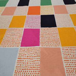 100% Cotton, Spotted Gingham by Nerida Hansen - 1/4 metre