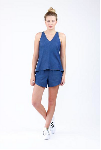 Megan Nielsen Reef Camisole & Shorts Set