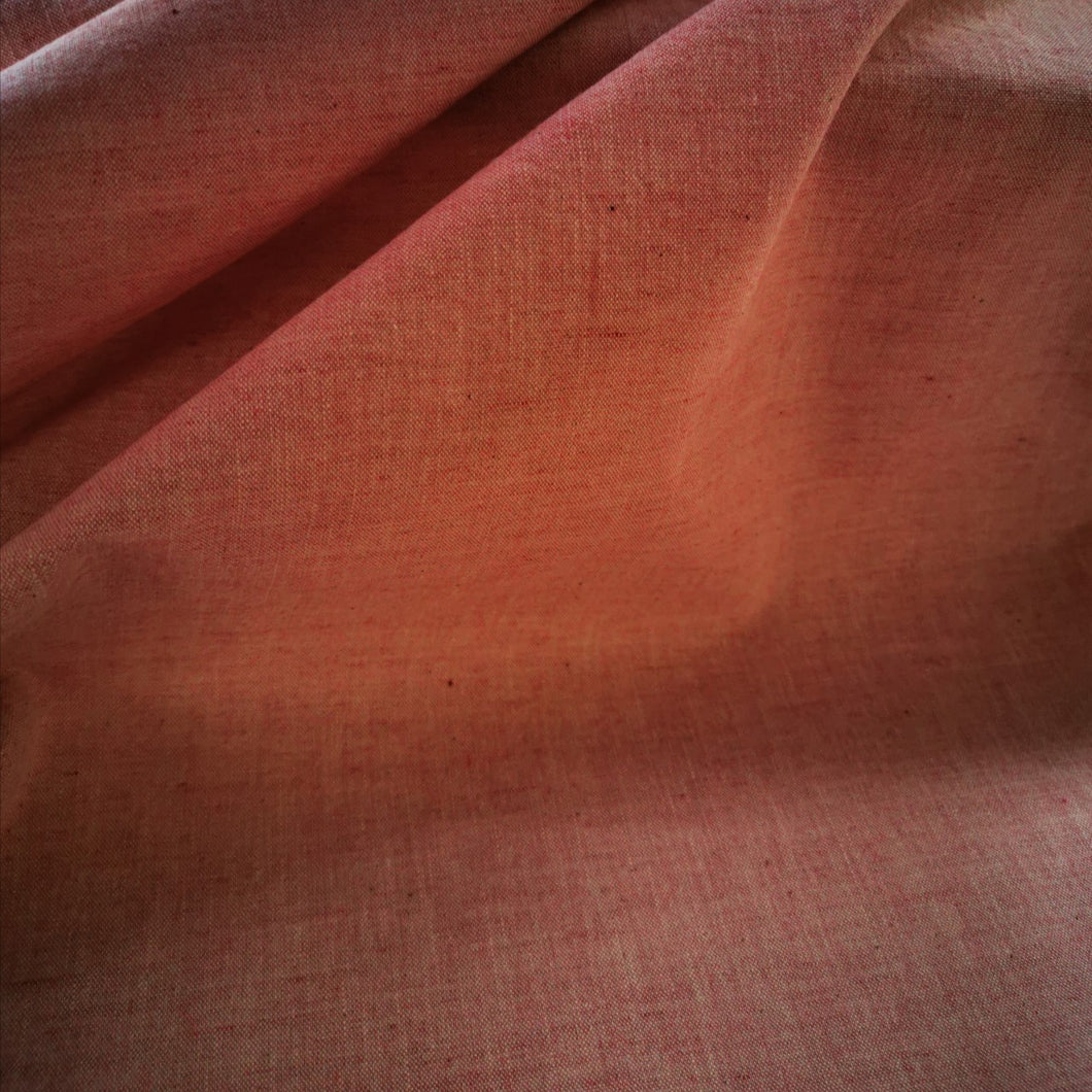 Organic Cotton Chambrays in rose. Light to medium weight. 117cm wide.