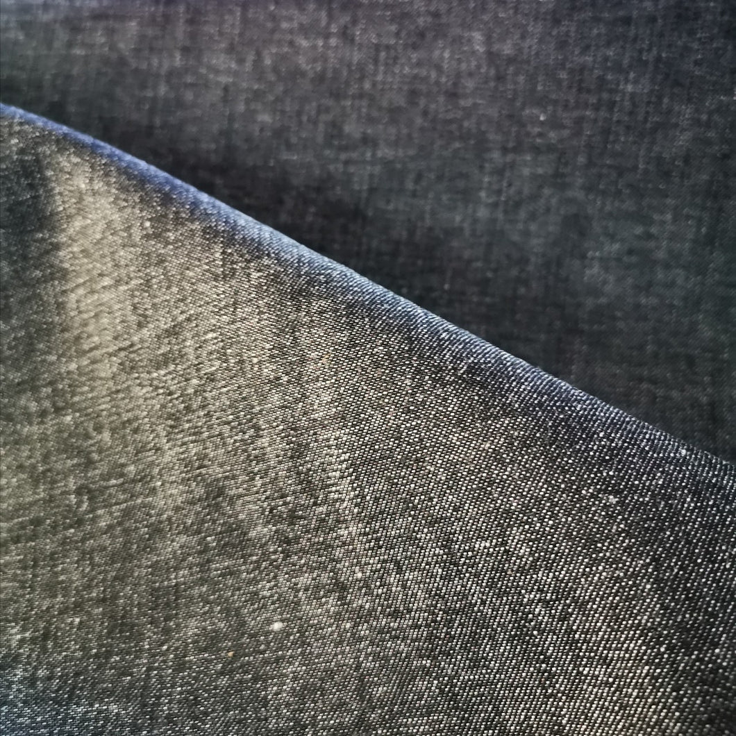 Denim 97% Cotton, Black - 1/4 metre