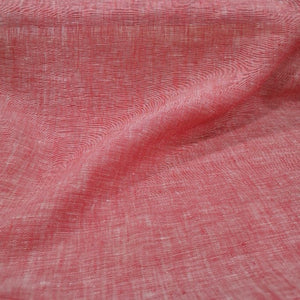 100% Linen, Washed Red - 1/4 metre