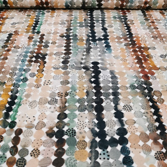 100% Cotton, Desert Wilderness, Colourful Rocks by Figo - 1/4metre