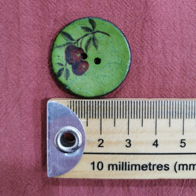 Italian Cherry Button, Large - Green