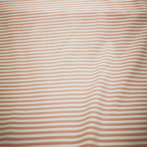 Cotton Jersey, Mid Grey and Pink Stripe - 1/4 metre