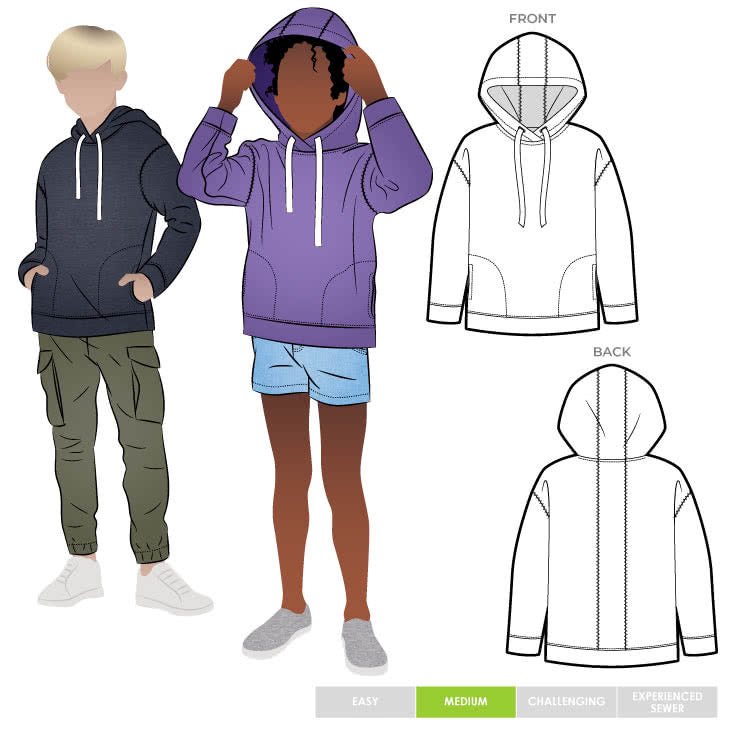 Style Arc Kids Fitzroy Hoodie - sizes 1 to 8