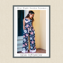 Load image into Gallery viewer, Sew To Grow Patterns - Mini The Night Garden PJ Set