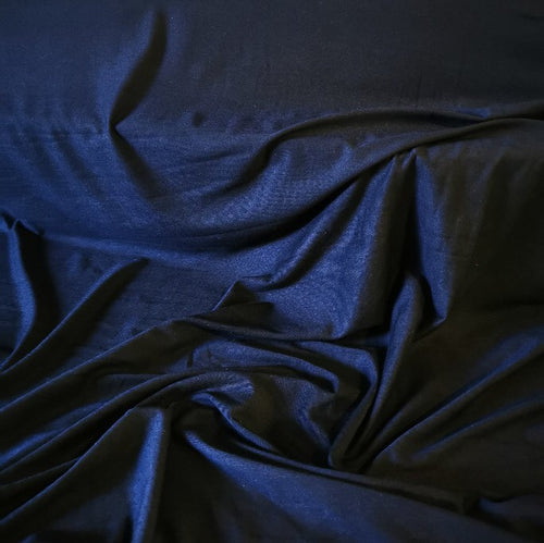 Bamboo Viscose Jersey in black. 200gsm and 150cm wide.